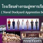 โรงเรียนช่างกรมอู่ทหารเรือ กำลังรับสมัครผู้(จะ)จบ หรือจบ ม.3 อายุไม่เกิน 18 ปีเข้าเรียน